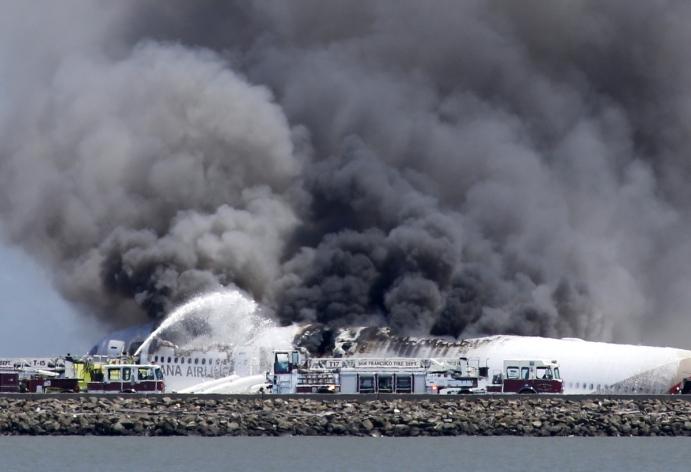Aisana Airline Plane Crash @ San Francisco Airport