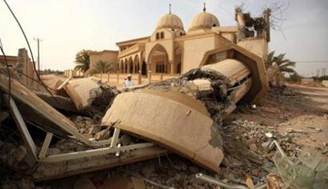 Al Khalifa regime destroys mosque in Bahrain