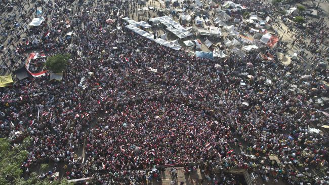 Egyptian Protester once again occupy Tahrir Square