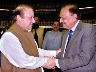 Mamnoon Hussain The New President of Pakistan with Nawaz Shariff