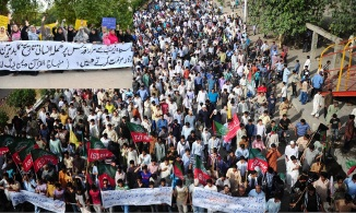 Pakistani Muslims Protest against the Rocket Attack on Syedda Zainab s.a Shrine