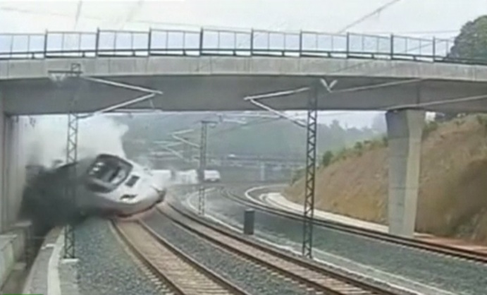 Santiago high-speed train crash