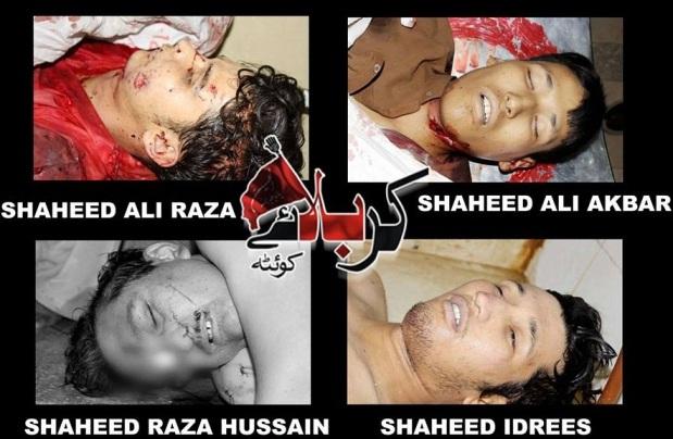Shaheed Raza Hussain , Idrees , Ali Akber , Ali Raza , 15 July , 2013 , Quetta
