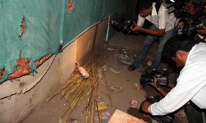 Bomb blast at Ismaili Jammat Khanna , KHI , Pakistan