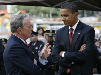 President Obama with NY Mayor Micheal Bloomberg