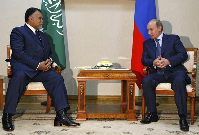 Saudi Prince Bandar Bin Sultan with Russian President Putin
