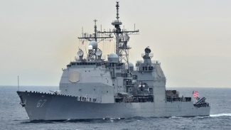 US Warship in Mediteranian Seas for a Possible Missile Attack on Syria