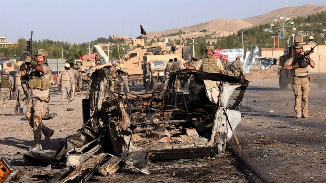 US Consulate in Herat , AFghanistan attacked by Suicide Bombers. a