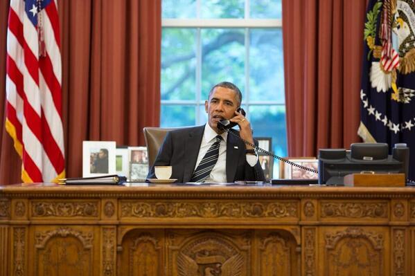 US President Barak Obama calling Iranian President Rouhani
