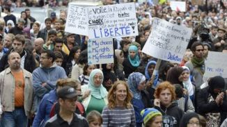 Protest in Quebec against the Ban on wearing Hijab 2013