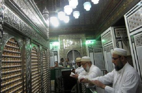 Shia Men in a Local Husainiya in Egypt