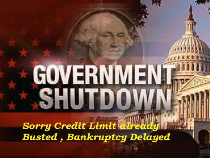 US Federal Govt. Shutdown No Funds