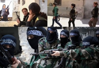 Wahabi Women performing Ilegitimate Jihad ul Nikah arrested by Syrian forces