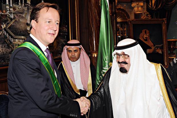 British PM David Cameron with Saudi King Abdullah