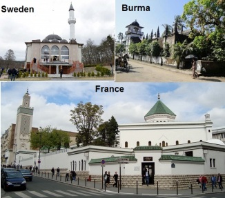 Mosques Attacked in Sweden , France & Burma