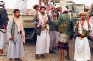 Shia Houthis fighters of Yemen