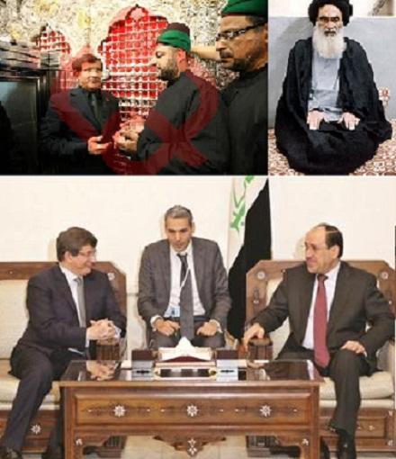 Turkey FM meets Sistani , Maliki Visits Karbala