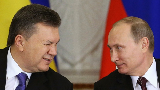 Russian President with Ukraine Leader