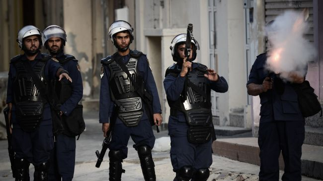 Bahriani Forces attack Protesters