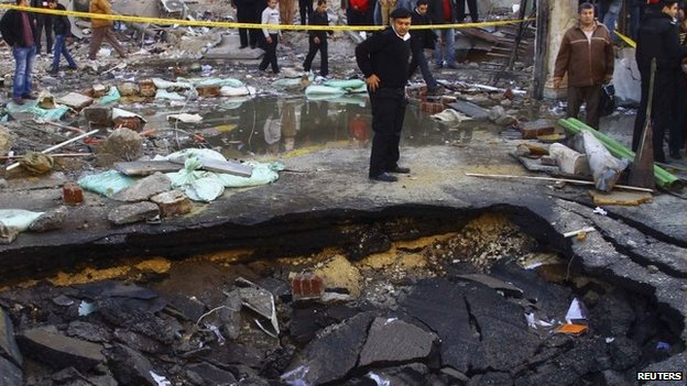Cairo Rocked by Multiple Blasts 24 Jan 2014