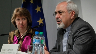 EU Foreign Policy Chief Catherine Ashton & Irani FM Mohd. Javed Zarif