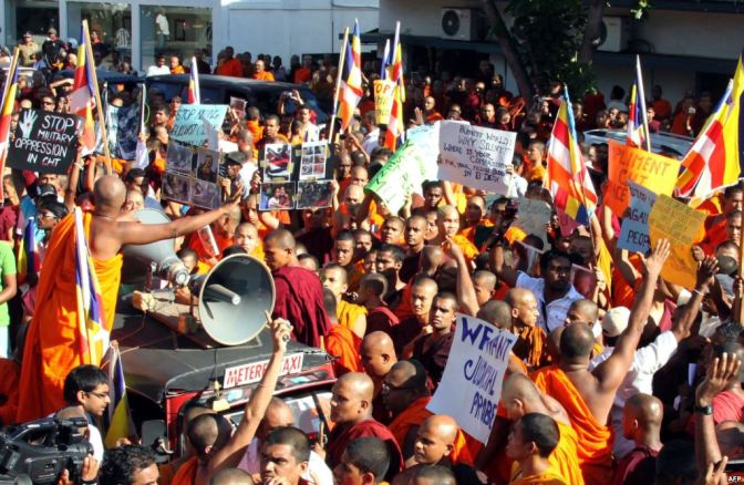 Hard Line Buddhist Monks Rally against Muslims
