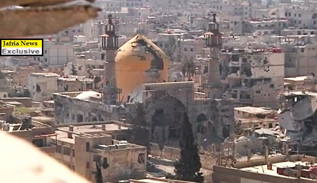 Exclusive video of liberation of Hazrat Sakina shrine in Syria