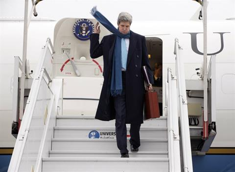 John Kerry On Visit for Syrian Opposition