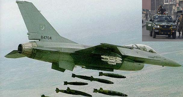 Pakistani Jets Bomb Taliban Hide Outs in North Waziristan