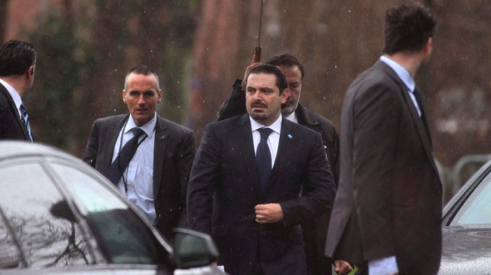 Former Lebanese Prime Minister Saad Hariri seen at the Special Tribunal for Lebanon in The Hague, The Netherlands