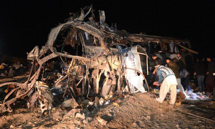 Suicide Attack on the Shia Pilgrim Bus @ Mastung , Balochistan , 21 Jan 2014 e