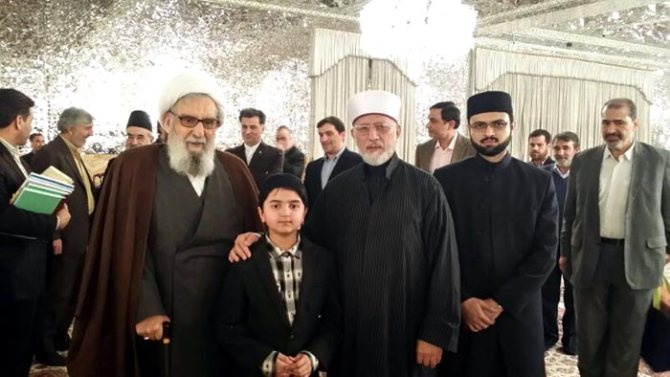 Dr. Tahir ul Qadri Visits Imam Raza's Holy Shrine