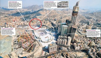 Holy Sites Beng demolihsed By Wahabi Saudi Monarchy