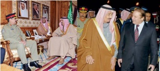 Saudi Crown Prince Salman Bin Abdul Aziz with Raheel & Nawaz Shariff