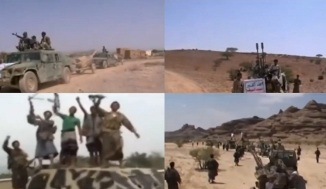 Shia Houthis fighters of Yemen Clashes with Salafi terrorists
