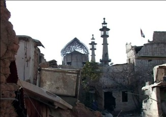 Shrine of Bibi Sakina Binte Hussain a.s Damaged 05 Feb 2014 g