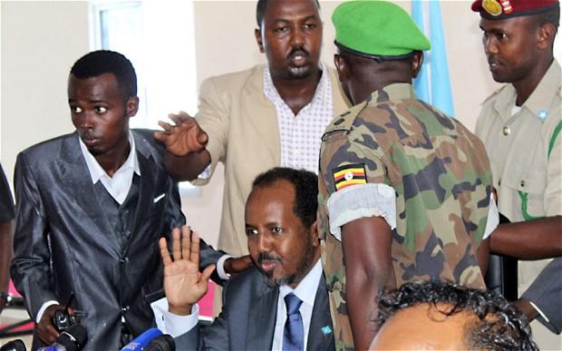 Somalia's President Hassan Sh. Mohd.