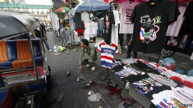 Thai Protester Killed in an attack