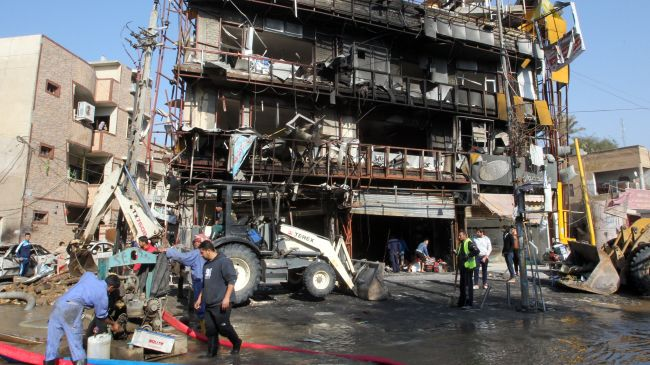 Bomb Attack in a Shia Majority Distt Karrada , Baghdad 18 Feb 2014