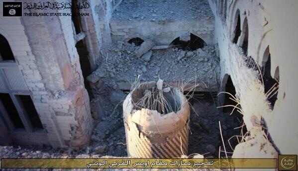 Holy Shrine of  Owais Al  Qarni & Ammar Ibn Yasir destroyed bty ISIL Terrorist , Raqqa , Syria
