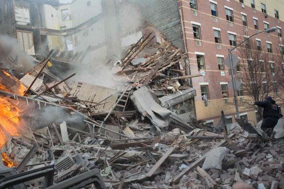 NY Building Collapsed due to Gas Explosion 12 Mar 2014