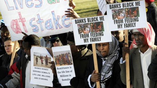 Protest against US Muslims Bank Accounts Closed
