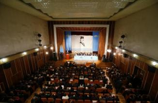 Delegates attend the Kurultai, the assembly of Crimea Tatars, in Bakhchisaray