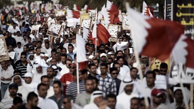 Bahraini Majority Shia Population Protest against the Wahabi Monarchy