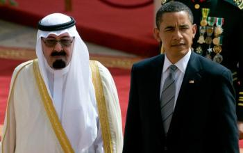 Saudi King Abdullah US President Obama