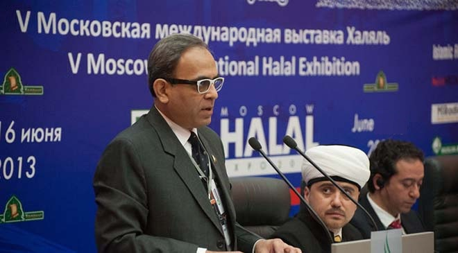 Asaad Sajjad - Secretary General of Halal Association of Pakistan , ( HAP )  @ Moscow Halal Conference