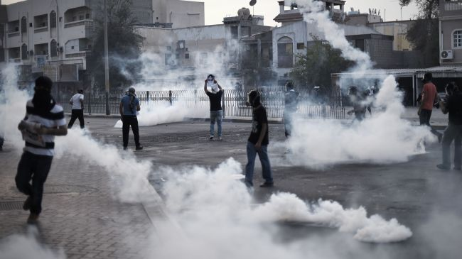 Bahraini Youth Protest against the Death of the Young Protester Boy