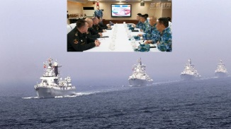 China Moscow Conducts Joint Naval Drills