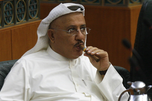 Kuwaiti MP Nabil al-Fadel smokes a cigar