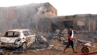 Nearly 120 killed in twin Nigeria car bombs
